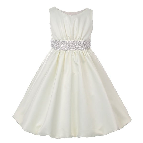 f6f893472e7 Shop Cinderella Couture Girls Ivory Pearl Bubble Flower Girl Dress 8 ...