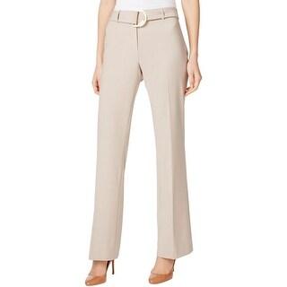 Calvin Klein Womens Petites Dress Pants Mid Rise Straight Leg - 4P