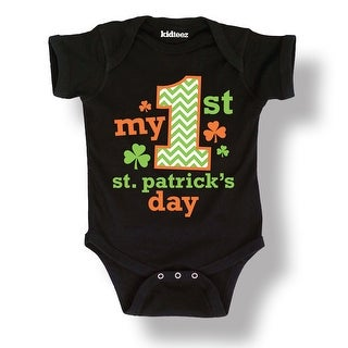My First 1St Saint Patrick's Day Shamrock Lucky Cute-Baby One Piece