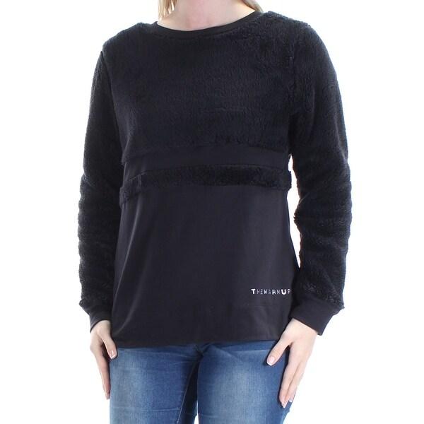 JESSICA SIMPSON $24 Womens New 1343 Black Faux Fur Sweater S Juniors B+B