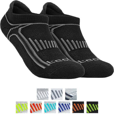 TSLA Tesla TM-MZS05 Low-Cut Comfort Cushion Athletic Socks - 6-Pack