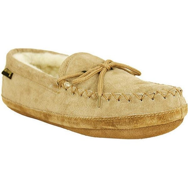 db84d5fb8e4b Shop Old Friend Men s Soft Sole Loafer Moc Chestnut White - Free Shipping  Today - Overstock - 7937318