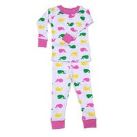 New Jammies Unisex Baby Pink Printed Cotton 2 Pc Sleepwear Set 12-24M