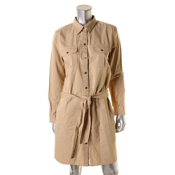 Lauren Ralph Lauren Womens Shirtdress Denim Long Sleeves