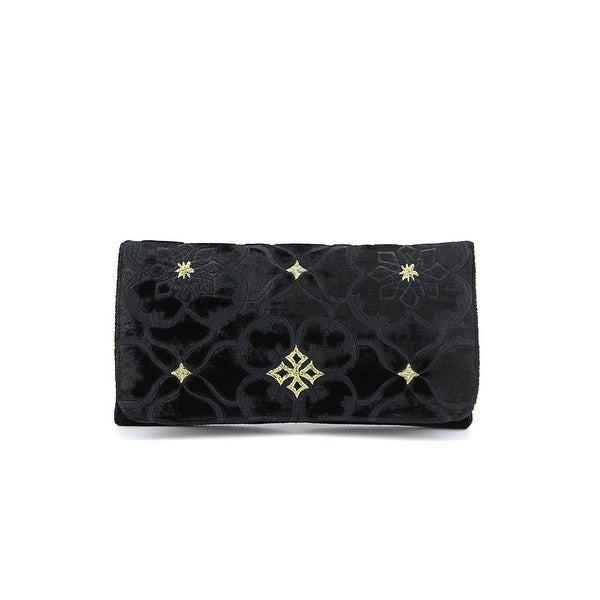 Shiraleah Fortuna Women Velour Clutch NWT - Black