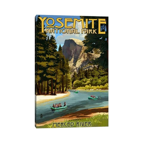"iCanvas ""Yosemite National Park (Merced River)"" by Lantern Press Canvas Print"
