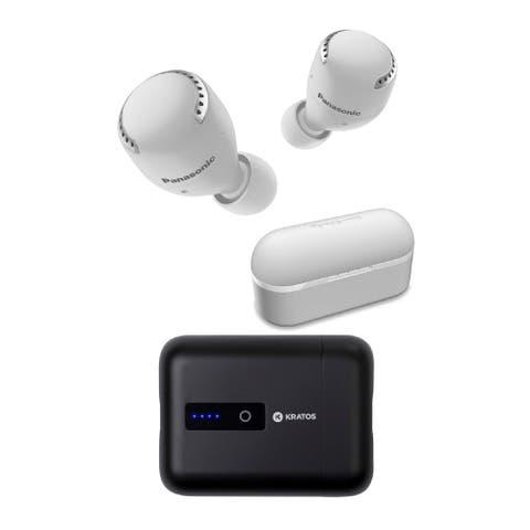 Panasonic RZ-S500W True Wireless Bluetooth Earphones (White) Bundle
