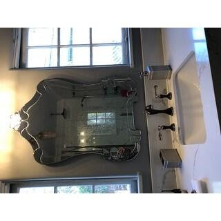 Abbyson Valencia Wall Mirror - Silver