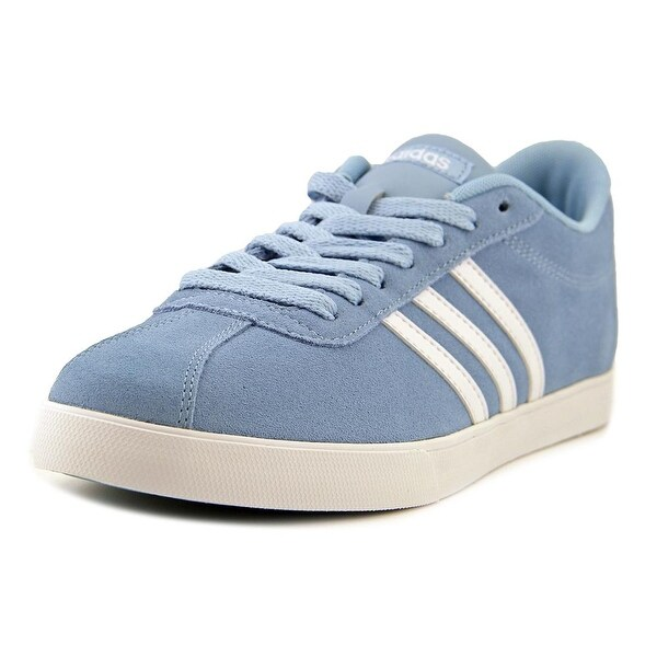 Adidas Courtset Women Round Toe Leather Blue Sneakers