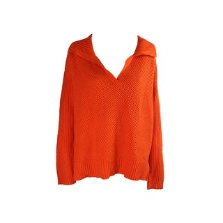 Lauren Ralph Lauren Orange Collar Pullover L