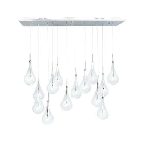 Modern Glass Globes- 14 Light LED Chandelier - 14 light - 14 light