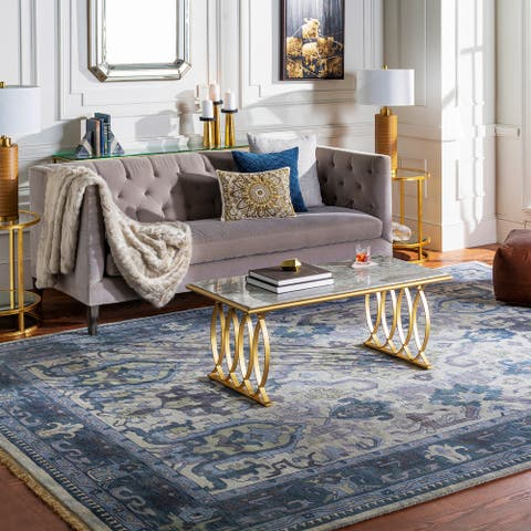 """Hand-Knotted Almeria Wool Area Rug - 2'6"""" x 8' Runner"""