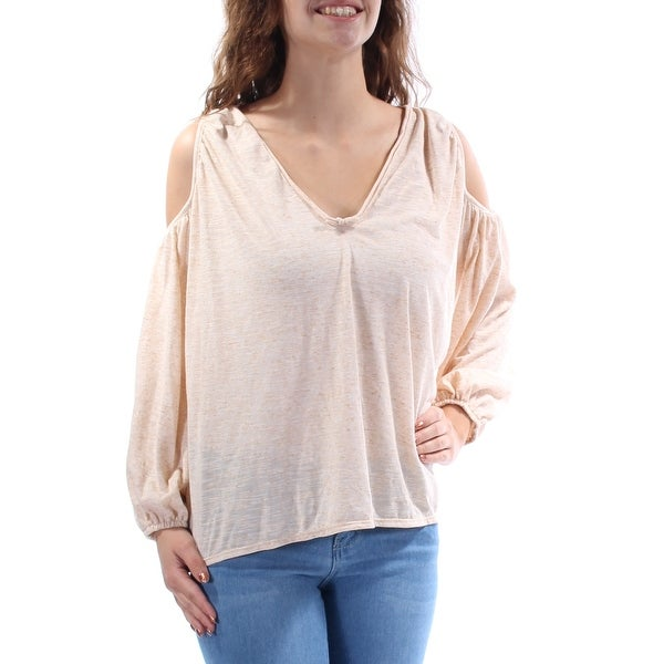 3ac48dc586144 Shop MAX STUDIO Womens Beige Cut Out Long Sleeve V Neck Top Size  XS - On  Sale - Free Shipping On Orders Over  45 - Overstock - 22426935