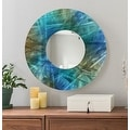 Statements2000 Blue / Teal / Brown Metal Decorative Wall-Mounted Mirror by Jon Allen - Mirror 103 - Thumbnail 3