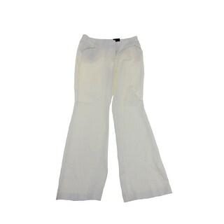Alfani Cloud Tummy Control Pleather Trim Trouser
