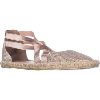 Kenneth Cole REACTION How To Dance Flat Espadrilles, Rose Gold