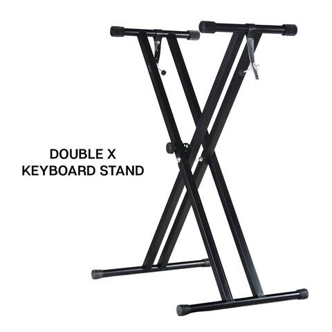 PARTYSAVING Pro Series Adjustable Double-Braced X Style Piano Keyboard Heavy Duty Premium