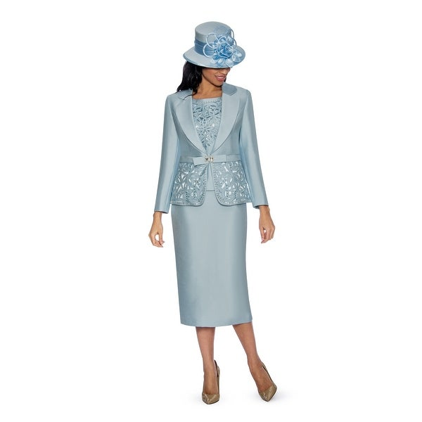 Giovanna Collection Women's Cutout & Beading Embellished 3-piece Skirt Suit. Opens flyout.