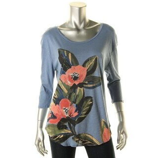 Lucky Brand Womens Micromodal 3/4 Sleeves Pullover Top