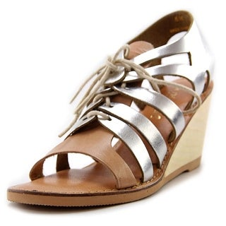 Matisse Begin Open Toe Leather Wedge Sandal