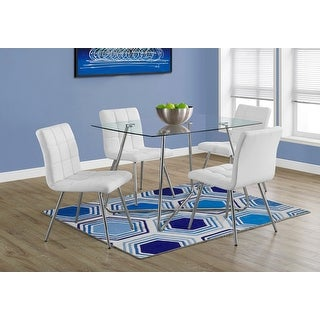 Monarch 1069 Chrome Metal with 8mm Tempered Glass 36nch x 48nch Dining Table