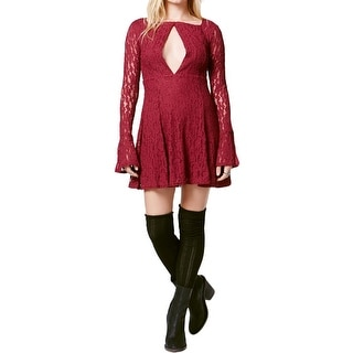 Free People Womens Teen Witch Mini Dress Lace Long Sleeves