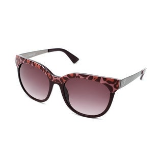 Just Cavalli Women's Round Frame Sunglasses Pink/Dark Red - Small