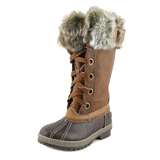 London Fog Melton Women Round Toe Synthetic Brown Snow Boot