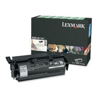 Lexmark X651A11A Lexmark Return Program Black Toner Cartridge - Black - Laser - 7000 Page - 1 Each