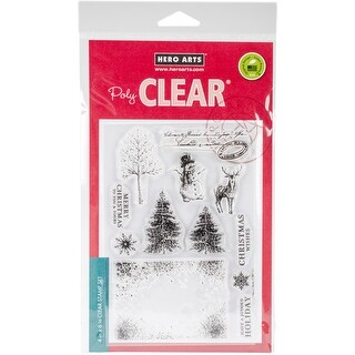 """Hero Arts Clear Stamps 4""""X6""""-Vintage Christmas Wishes"""