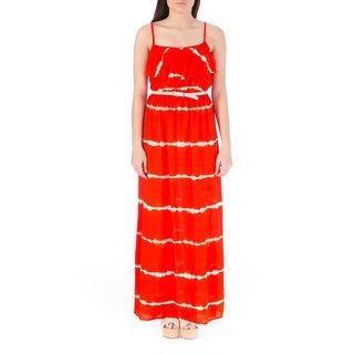 BCX Womens Juniors Maxi Dress Knit Tie-Dye