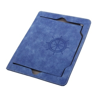 Faux Leather Handheld Smart Stand Protective Case Cover Blue for iPad Air 2