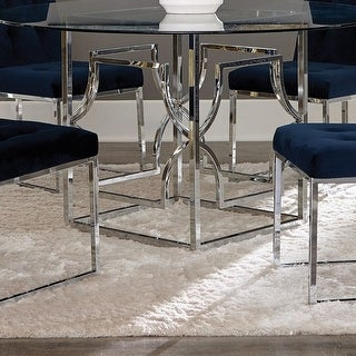 Silver Orchid Becquer Square Dining Table Base