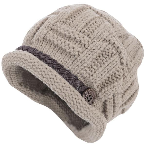 eba71850b Women Solid Color Warm Winter Stretchy Black Knit Beanie Hat