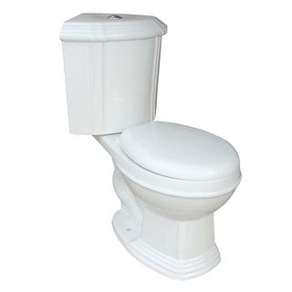 White Ceramic Round Space Saving Dual Flush Corner Toilet Renovator's Supply
