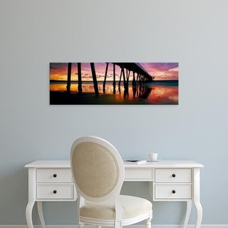Easy Art Prints Panoramic Image 'Pier in the Pacific Ocean, Hermosa Beach Pier, Hermosa Beach, California' Canvas Art
