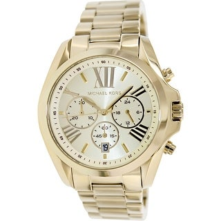 Michael Kors Women's Bradshaw MK5605 Gold Stainless-Steel Quartz Dress Watch