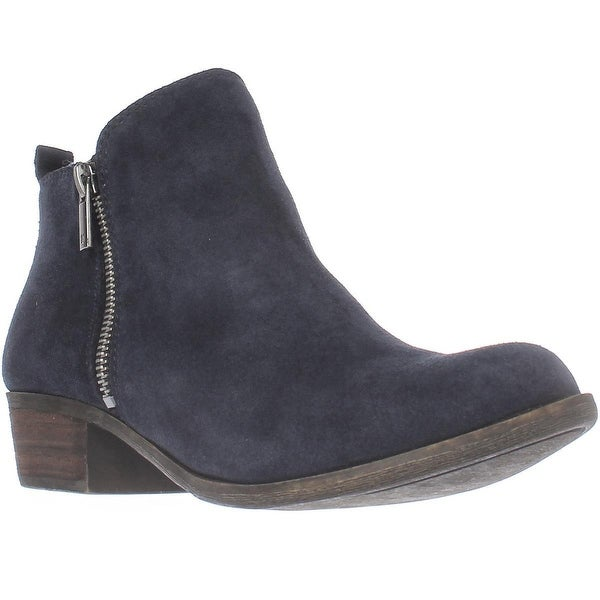 Lucky Brand Basel Side Zip Ankle Boots, Bright Blue