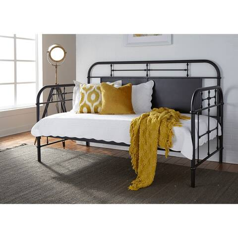 Carbon Loft Cauthen Vintage Series Black Twin Metal Day Bed