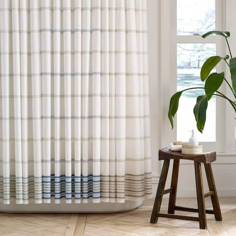 Martex Purity Striped Antimicrobial Shower Curtain with SILVERbac