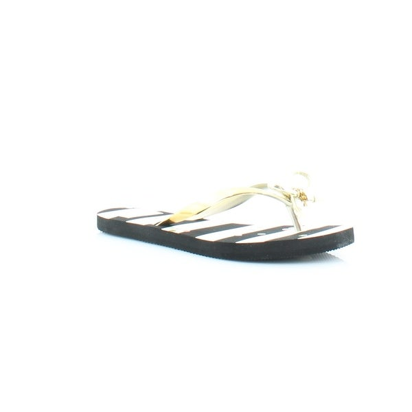 040a08c45 Shop Kate Spade Nova Women s Sandals   Flip Flops Black White Stripe ...