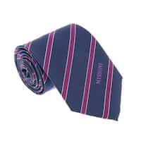 Missoni U5031 Navy/Fuschia Regimental 100% Silk Tie - 60-3