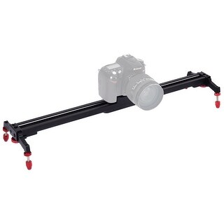 Costway 24'' Camera Video Slider Track Stabilizer Rail Ball-Bearing Adjustable Leg w Bag