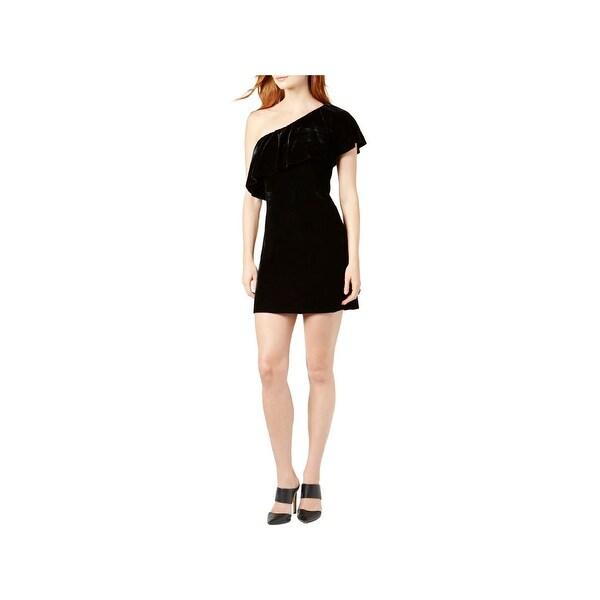 Shop Kensie Womens Cocktail Dress Velvet One Shoulder Free