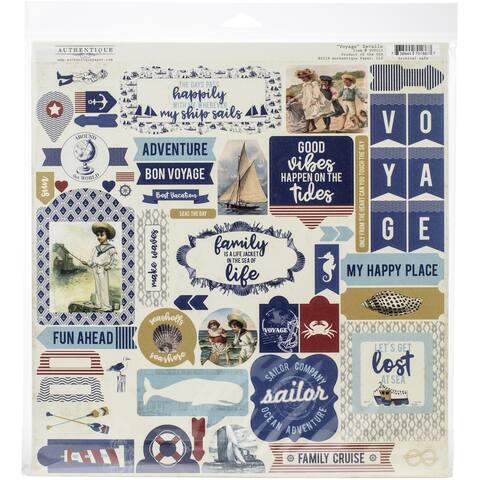 """Authentique Collection Kit 12""""X12""""-Voyage"""