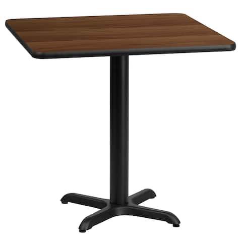 "24'' Square Laminate Table Top with 22'' x 22'' Table Height Base - 24""W x 24""D x 31.125""H"