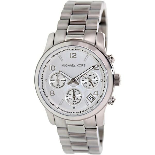cf920916041 Michael Kors Women  x27 s Runway Silver Stainless-Steel Quartz Fashion Watch