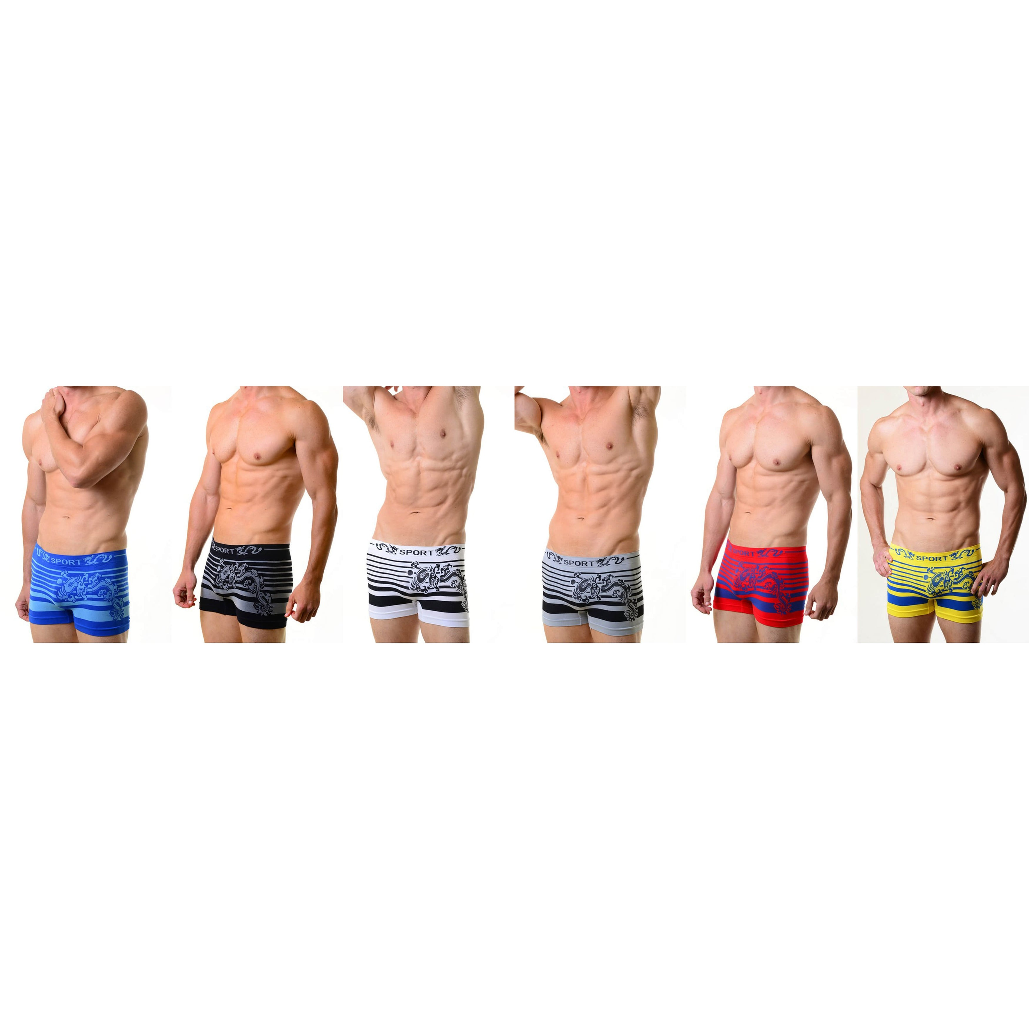 Mens Boxers Briefs Dragon Soft Stretch Underwear