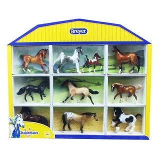 Breyer 1:32 Stablemates Model Horse: 10-Piece Shadowbox - multi