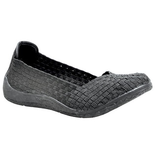 Women's Woven Stretchy Slip-On Shoes - Black - Size 40